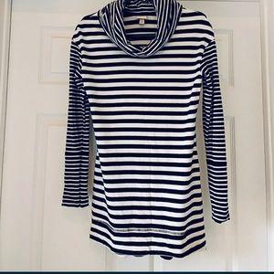 Black & White Stripe Tunic Top